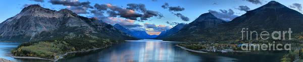Photograph - Waterton Lakes Giant Panorama by Adam Jewell