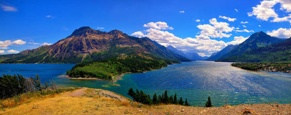 Photograph - Waterton Lakes Panorama by Greg Norrell