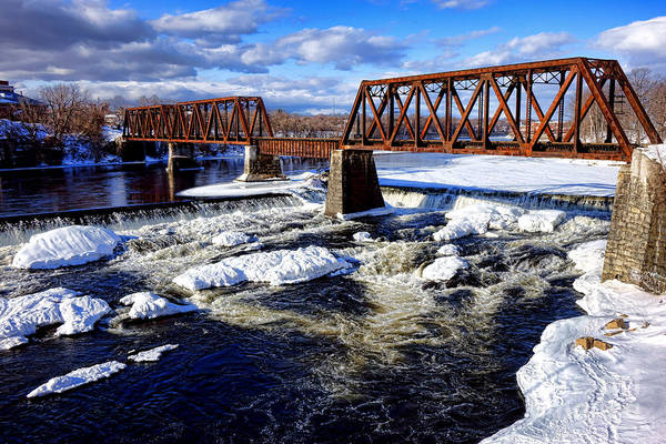 Rail Crossing Photograph - Waterville Maine Central Railroad Bridge by Olivier Le Queinec