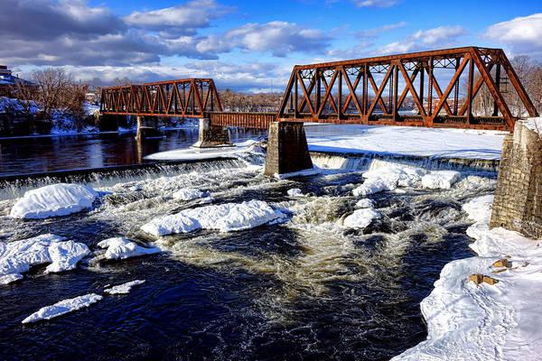 Photograph - Waterville Maine Central Railroad Bridge by Olivier Le Queinec