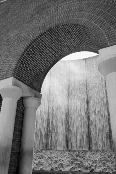 Photograph - Waterwall And Arch 2 In Black And White by Angela Rath
