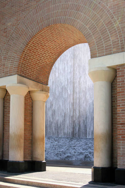 Photograph - Waterwall And Arch 3 by Angela Rath