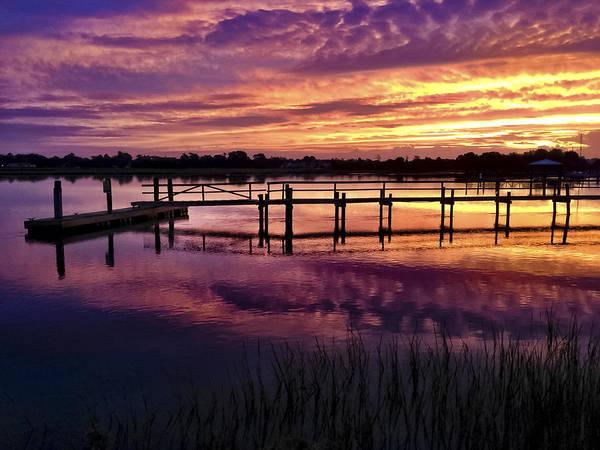 Wall Art - Photograph - Waterway Sunrise  by Drew Castelhano