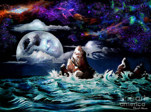 Painting - Waterworld  by David Neace