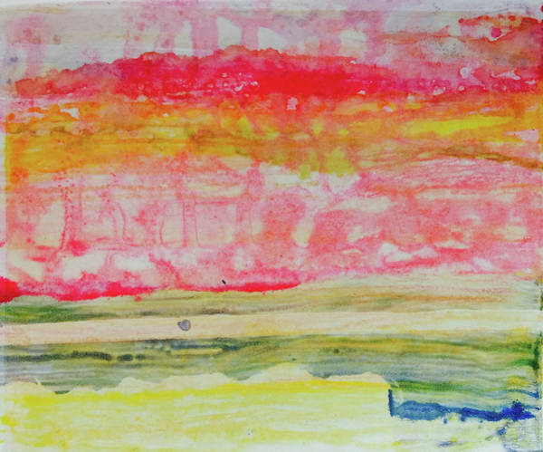 Mixed Media - Watery Seascape by Barbara Jacobs