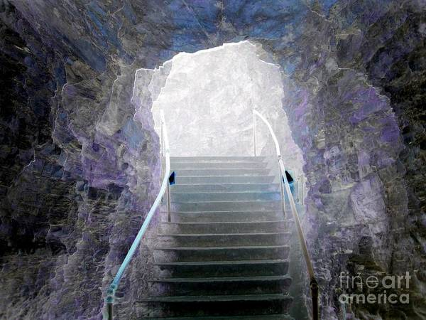 Photograph - Watkins Glen New York Entrance And Stairs Solarized Effect by Rose Santuci-Sofranko