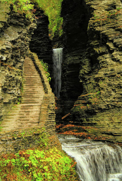 Photograph - Watkins Glen State Park Waterfall by Dan Sproul
