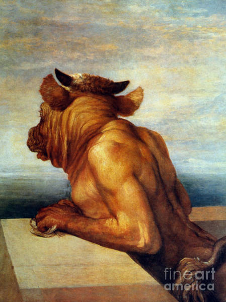Aod Painting - Watts: The Minotaur by Granger