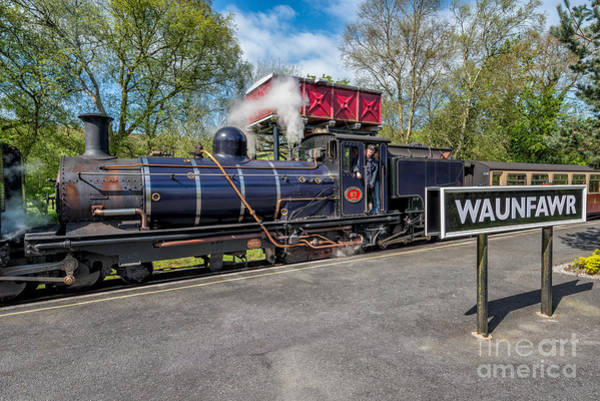 Loco Wall Art - Photograph - Waunfawr Station  by Adrian Evans