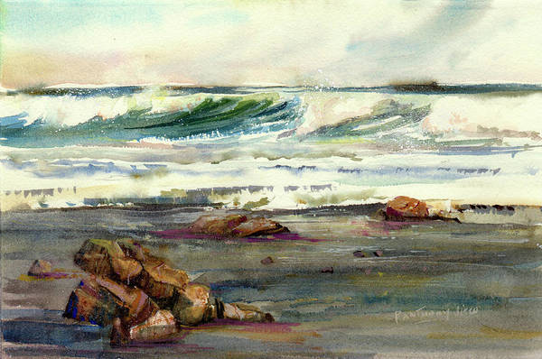 Wave Breaking Painting - Wave Action by P Anthony Visco