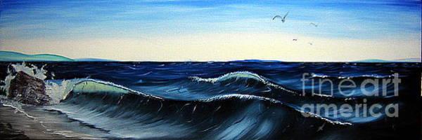 Anglin Wall Art - Painting - Wave Break by Kalib Anglin