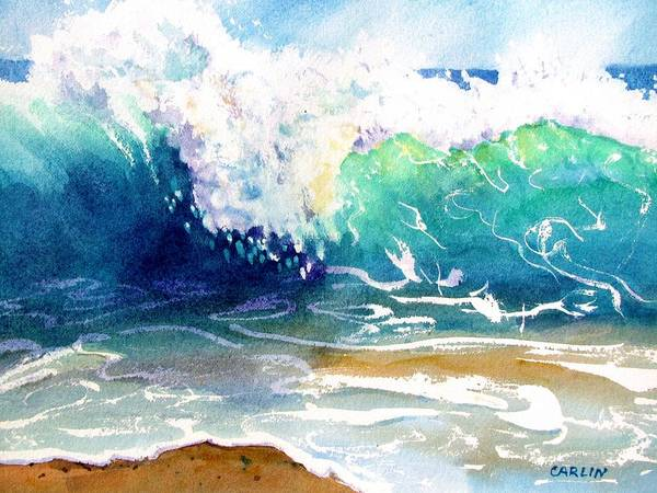 Painting - Wave Color by Carlin Blahnik CarlinArtWatercolor