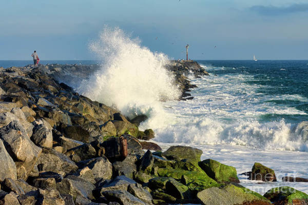 Photograph - Wave Crash At The Wedge by Eddie Yerkish
