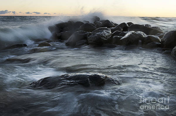 Photograph - Wave Crashes Rocks 7838 by Steve Somerville