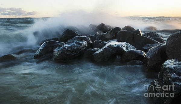 Photograph - Wave Crashes Rocks 7959 by Steve Somerville