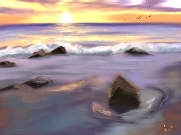Painting - Wave Crashing by Greg Neal