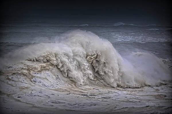 Photograph - Wave Foam Art by Bill Posner