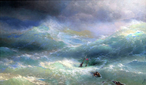 Painting - Wave  Ivan Aivazovsky 1889 by Movie Poster Prints