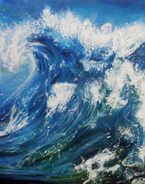 Big Wave Painting - Wave by Kathleen Wong