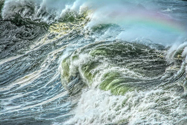 Photograph - Wave Rainbow by Bill Posner