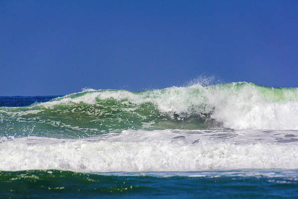 Photograph - Wave Rolling To The Beach by Randy Bayne