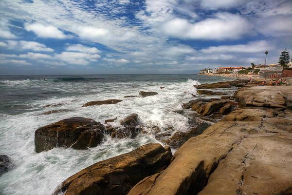 La Jolla Photograph - Wave Wash by Peter Tellone