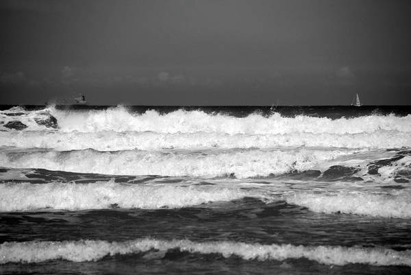 Photograph - Waves 1 In Bw by Susanne Van Hulst