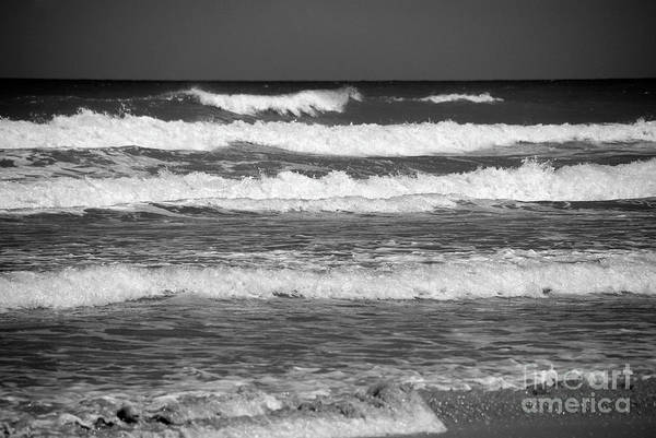 Photograph - Waves 3 In Bw by Susanne Van Hulst