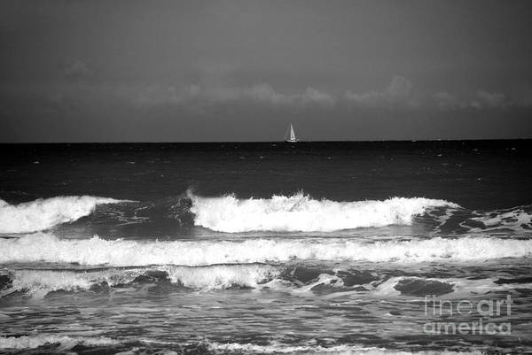 Photograph - Waves 4 In Bw by Susanne Van Hulst