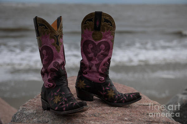 Photograph - Waves And Boots by Dale Powell