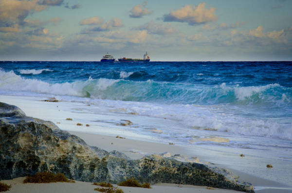 Photograph - Waves And Tankers by Jeff Phillippi