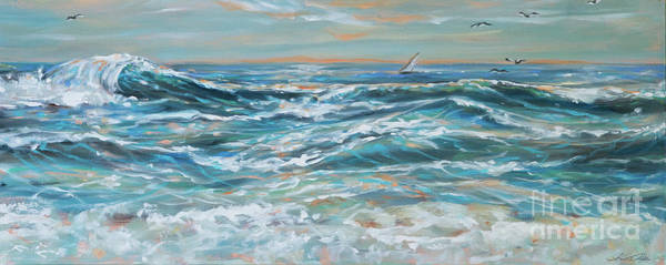 Waves And Wind Art Print