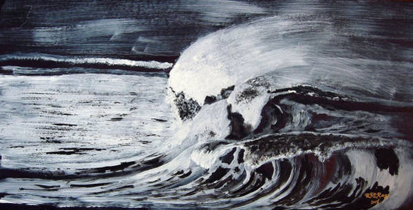 Painting - Waves At Night by Richard Le Page
