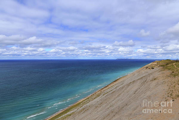 Photograph - Waves Below The Dunes by Rachel Cohen