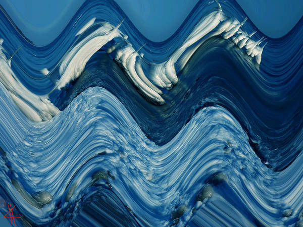Photograph - Waves  by Colette V Hera  Guggenheim