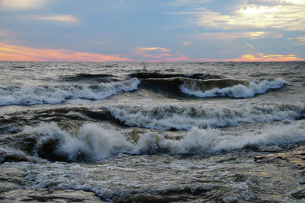 Photograph - Waves In The Morning by Mike Murdock