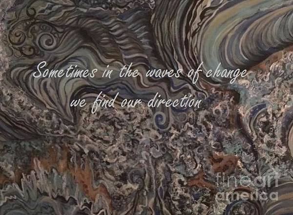 Mixed Media - Waves Of Change by Mastiff Studios