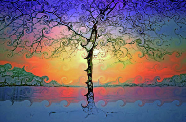 Cheery Digital Art - Waves Of Colour And Light by Tara Turner