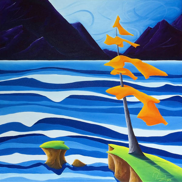 Wall Art - Painting - Waves Of Emotion by Richard Hoedl