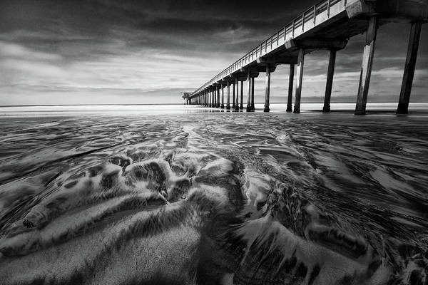 Scripps Pier Photograph - Waves Of Sand by Ryan Weddle