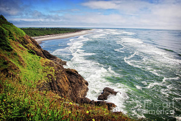 Photograph - Waves On The Washington Coast by Lincoln Rogers