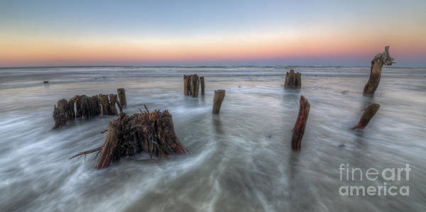 Port St. Joe Photograph - Waves Over Old Stumps by Twenty Two North Photography