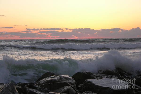 Waves Over The Rocks  5-3-15 Art Print