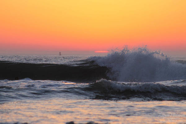 Photograph - Waves Rolling In At Sunrise by Robert Banach