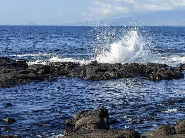 Photograph - Waves Splashing At Punta Espinoza On  Fernandina Island  Galapagos Islands by NaturesPix