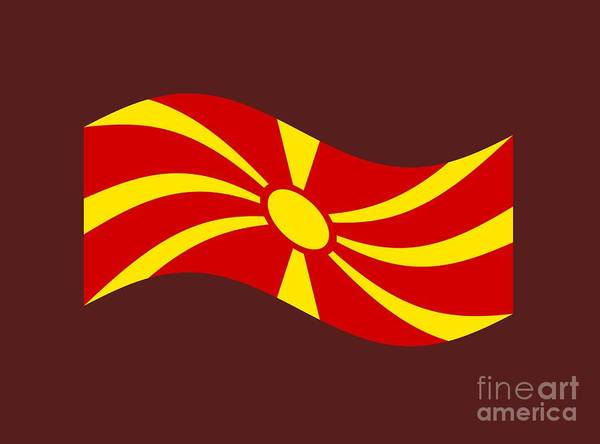 Macedonia Digital Art - Waving Macedonia Flag by Frederick Holiday