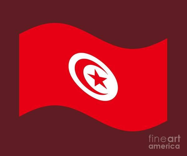 Tunisia Digital Art - Waving Tunisia Flag by Frederick Holiday