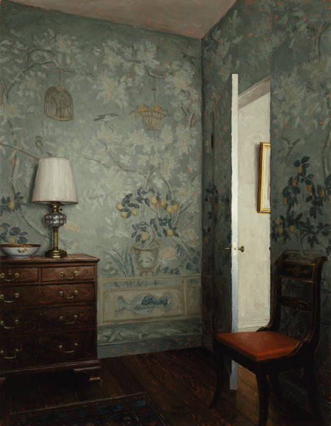 Painting - Wawllpaper Room -- Night by Harry Steen