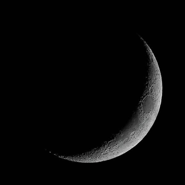 Wall Art - Photograph - Waxing Crescent Moon June 16 2018 Square Format by Ernie Echols