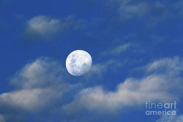 Photograph - Waxing Gibbous Moon Skyscape by James Brunker